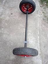 Балка для прицепа с колесами в сборе (ступицы 01 шплинтованые)