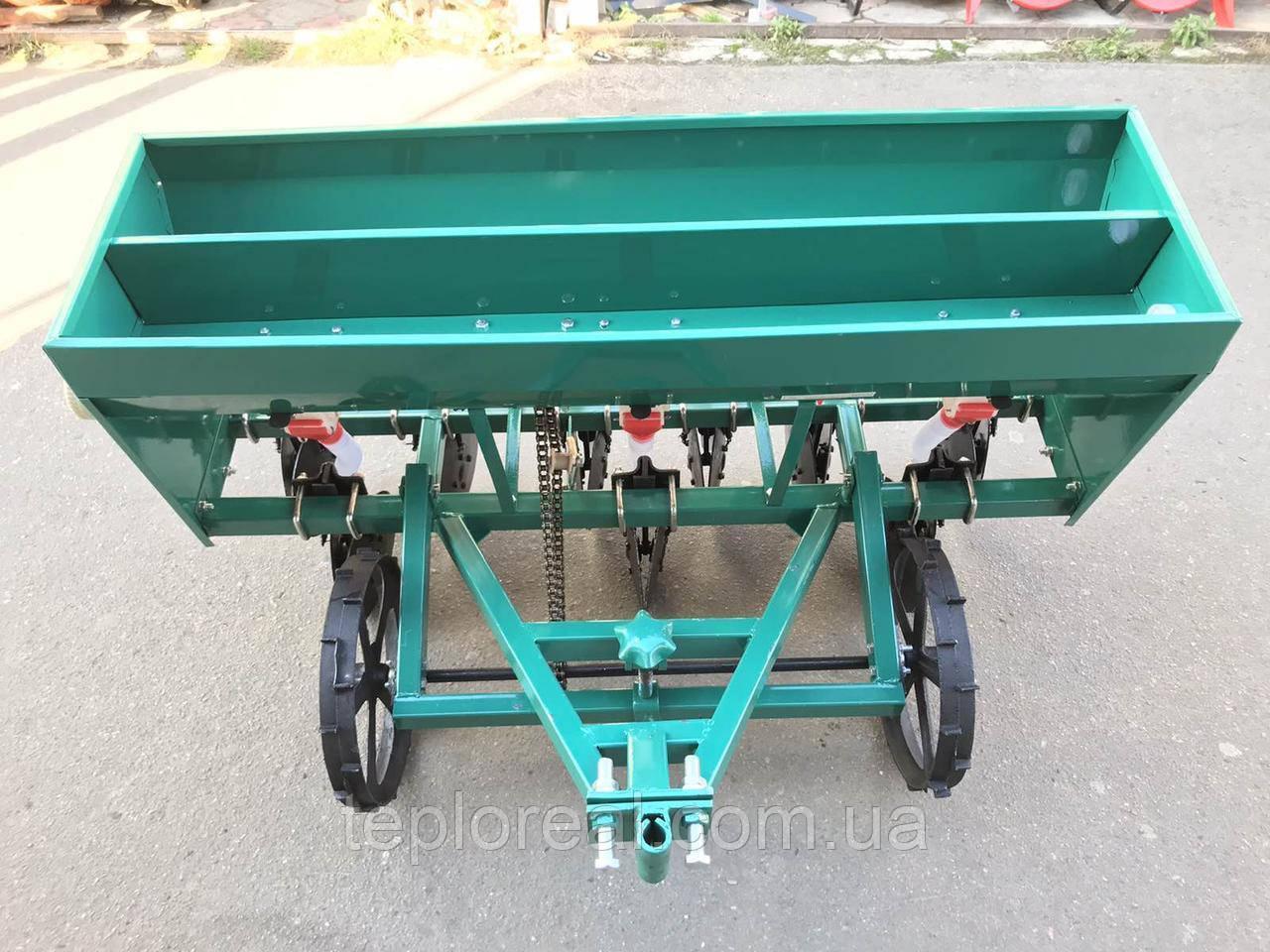 Сеялка зерновая СЗ 6-115УД дисковая на шесть рядов с бункером для удобрений на мотоблок и мототрактор.