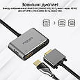 USB-C хаб 2-в-1 Promate MediaHub-C2 HDMI/VGA Grey, фото 3