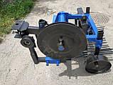 Картофелекопалка грохотная с активным ножом усиленная для мототрактора (ременная), фото 5
