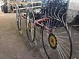 Сеноворошилка Солнышко на 3 колеса ТМ АРА (одна точка, мототрактор), фото 3