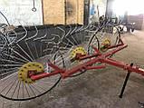 Сеноворошилка Солнышко на 3 колеса ТМ АРА (одна точка, мототрактор), фото 9