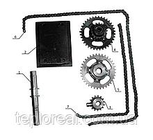 Комплект для установки активной фрезы на минитрактор