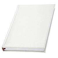 Щоденник у білій обкладинці 'Небраска' Lediberg чорний, недатований, під тиснення та друк, фото 1