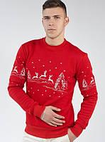 Мужской  рождественский свитшот (Красный), фото 1