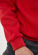 Світшот чоловічий теплий на флісі червоний, фото 3