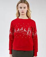 Женский рождественский свитшот (Красный), фото 1