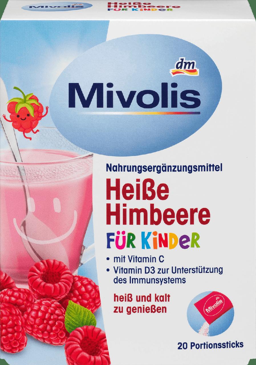 Горячий напиток от простуды для детей Mivolis Himbeere für Kinder, 20 шт.