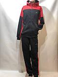 Теплий спортивний костюм на блискавці чоловіча з капюшоном Туреччина Чорний, фото 2