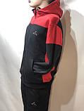 Теплий спортивний костюм на блискавці чоловіча з капюшоном Туреччина Чорний, фото 8