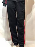 Теплый спортивный костюм на молнии мужской с капюшоном Турция Черный, фото 5