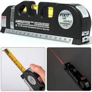 Лазерний рівень з рулеткою FIXIT LASER PRO 3 нівелір 3 в 1