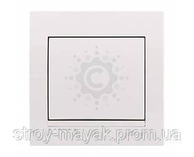 Выключатель одноклавишный Lezard серия DERIY белый