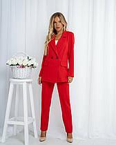 Женский брючный, стильный, классический костюм пиджак и брюки новинка 2020.