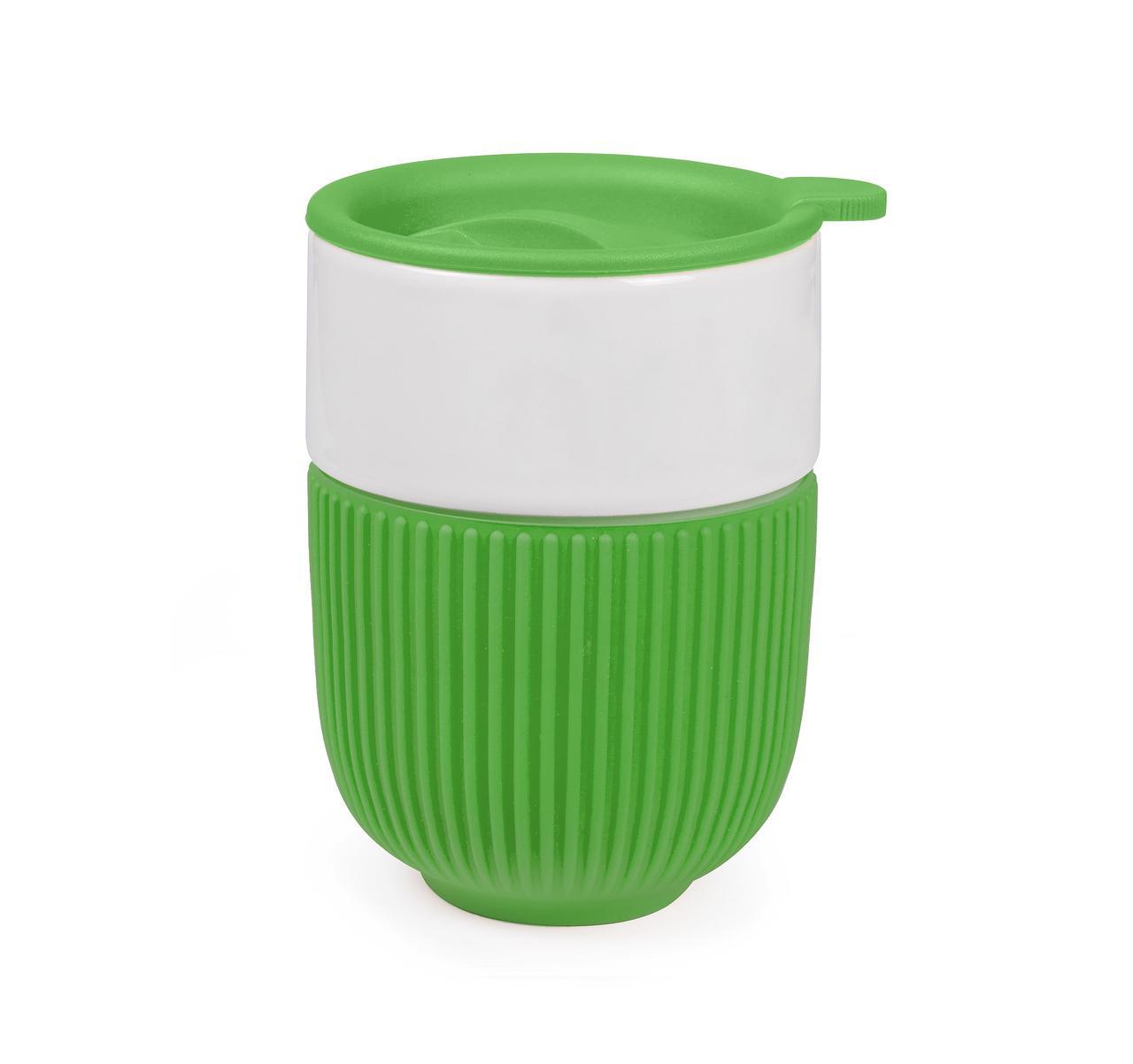 Чашка керамическая с крышкой Barell 350 мл
