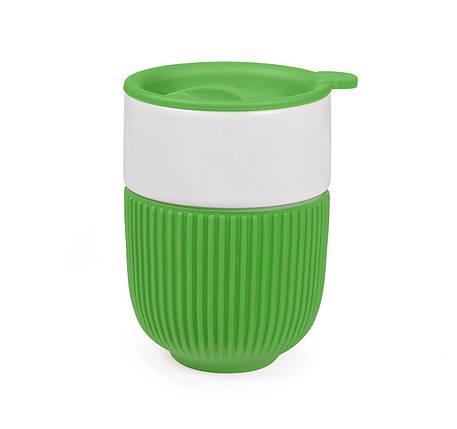 Чашка керамическая с крышкой Barell 350 мл, фото 2