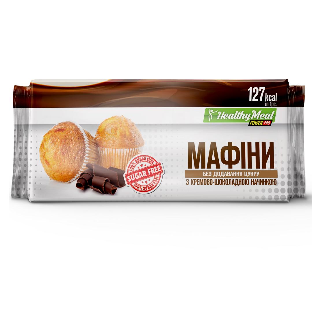 Мафіни з кремово-шоколадною начинкою Power Pro 70 г