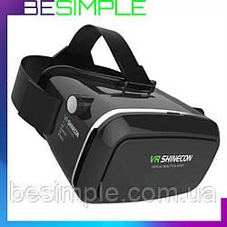 Очки виртуальной реальности VR BOX SHINECON / 3D очки + Пульт Черные