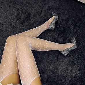 Оригинальные чулки со стразами эротическое белье сексуальное белье