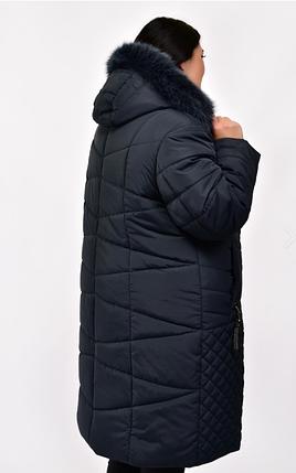 Женская зимняя куртка в большом размере Украина Размеры: 58.60.62.64.66.68.70.72.74, фото 2