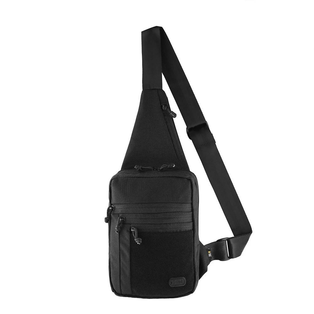 M-Tac однолямочная пістолетна сумка-кобура наплічна чорна з липучкою Elite Gen.IV Black