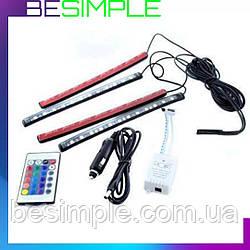 Універсальна автомобільна RGB led підсвічування LED AMBIENT HR-01678 з мікрофоном