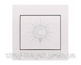 Кнопка звонка Lezard серия DERIY белый
