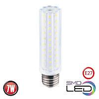 Лампа светодиодная Horoz Electric CORN-7 LED 7Вт 760Лм E27 6400К холодный белый свет (001-062-0007-010), фото 1