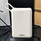 Power Bank швидкої зарядки 10 тис. мАч,Vidvie PB744,білий, фото 2