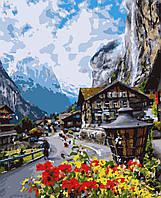 Картина рисование по номерам Квітуча Швейцарія PN2708 Artissimo 40х50см розпис за номерами набір, фарби,