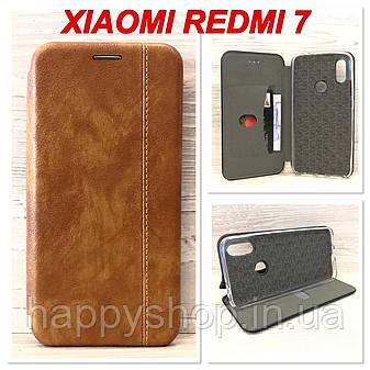 Чохол-книжка Gelius Leather для Xiaomi Redmi 7 (Коричневий), фото 2