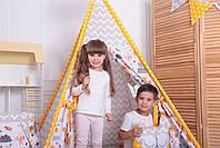 Детская палатка-вигвам с ковриком Лесные Зверята 125х125х170 см, фото 4