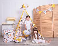 Детская палатка-вигвам с ковриком Лесные Зверята 125х125х170 см, фото 2