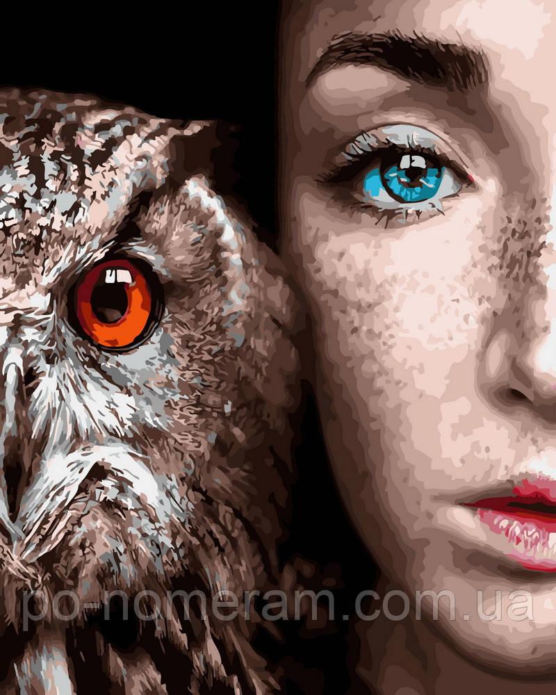 Картина по номерам  Девушка и сова (BK-GX30916) 40 х 50 см (Без коробки)