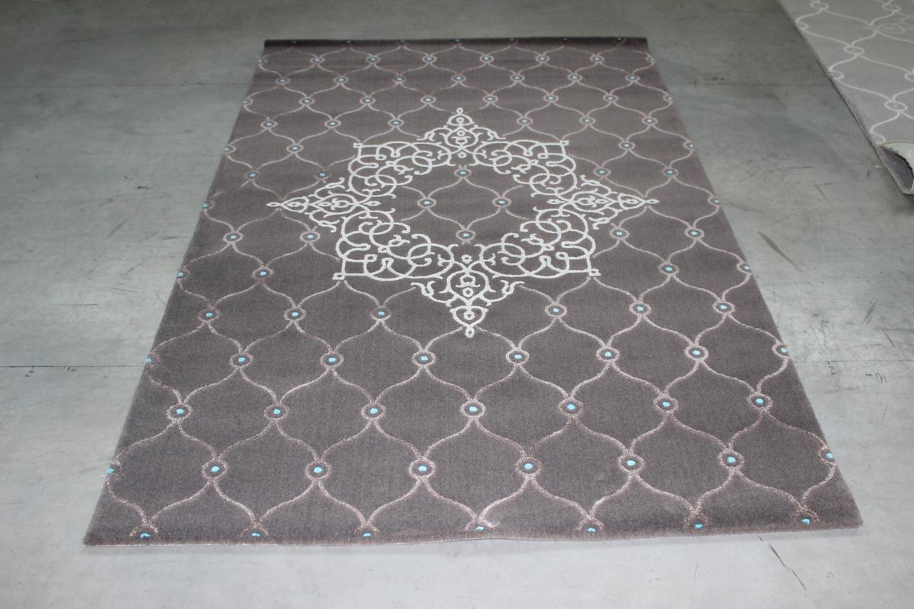Ковер современный PATARA 0013 1,6Х2,35 Бирюзовый прямоугольник