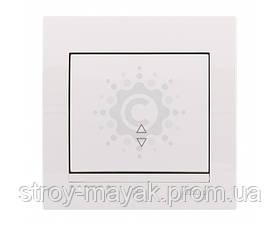 Выключатель одноклавишный проходной Lezard серия DERIY белый