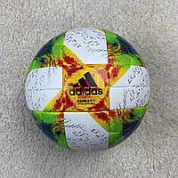 Футбольный мяч Аdidas Context 19 бело-радужный