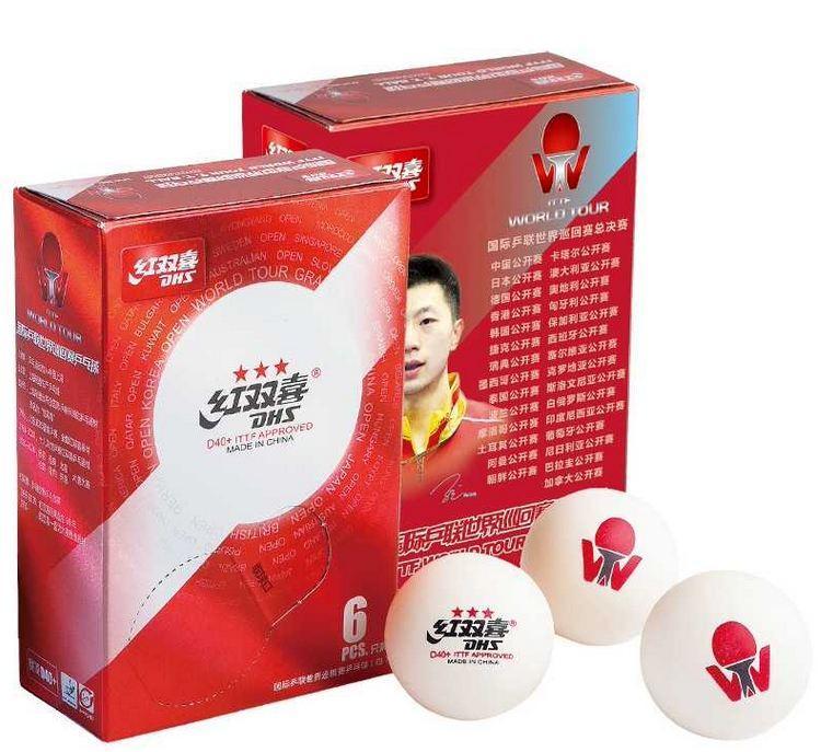 Пластиковый теннисный мяч DHS D40+ 3*** ITTF World Tour