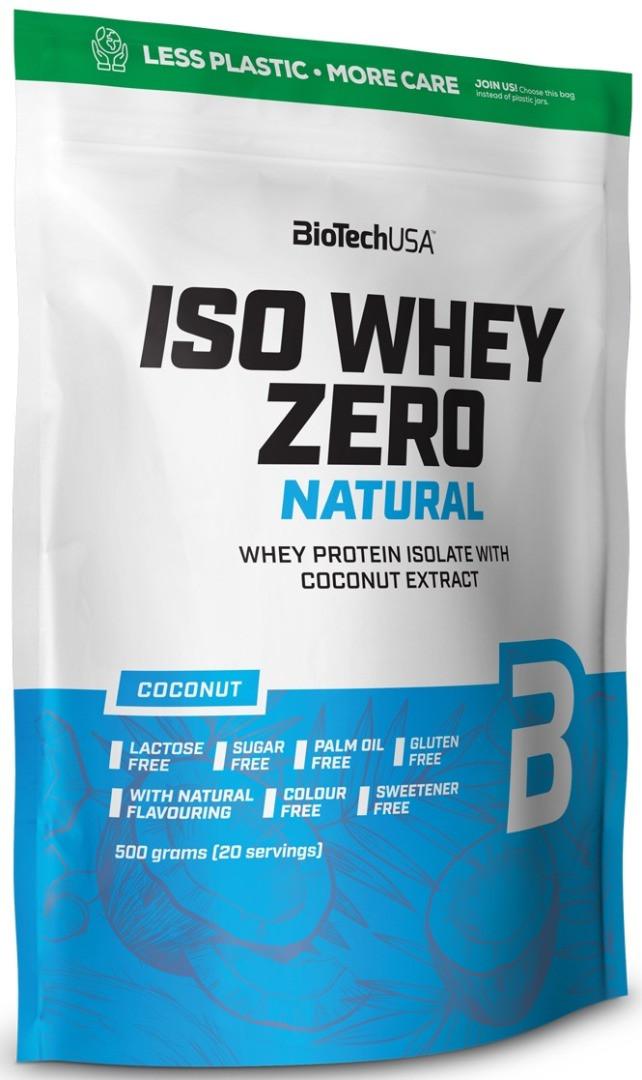 Ізолят сироваткового білка BioTech Iso Whey Zero Natural 500 g