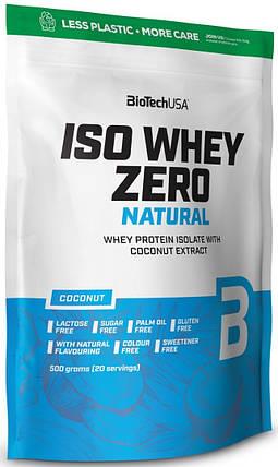 Ізолят сироваткового білка BioTech Iso Whey Zero Natural 500 g, фото 2