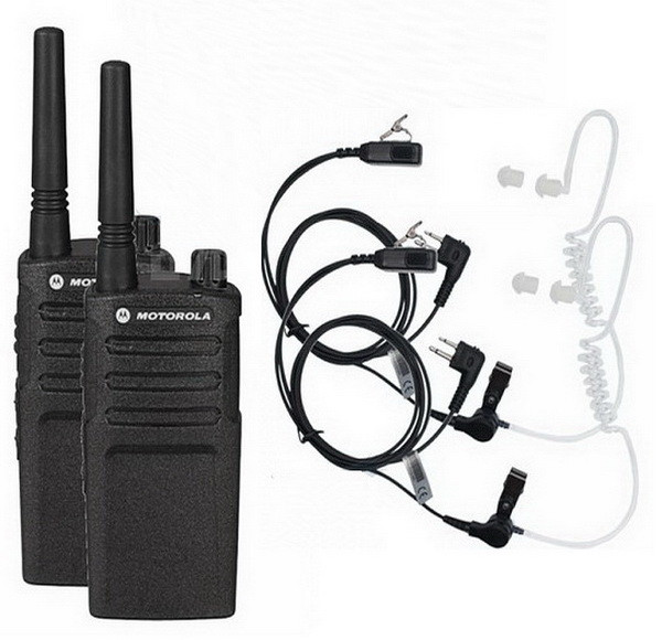 Рация Motorola XT225 Security (2W, PMR446, LPD433, 446 MHz, до 16 км, 8 каналов, АКБ), 2шт, черная