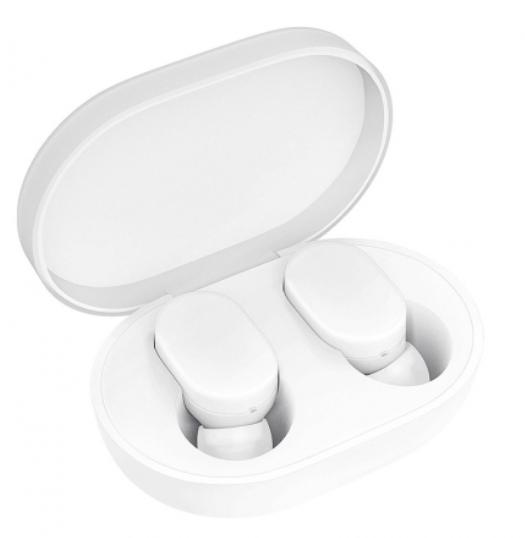 Силиконовый оригинал чехол на кейс для Xiaomi Mi AirDots Youth Edition White