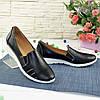 Туфли женские из натуральной кожи черного цвета, фото 3