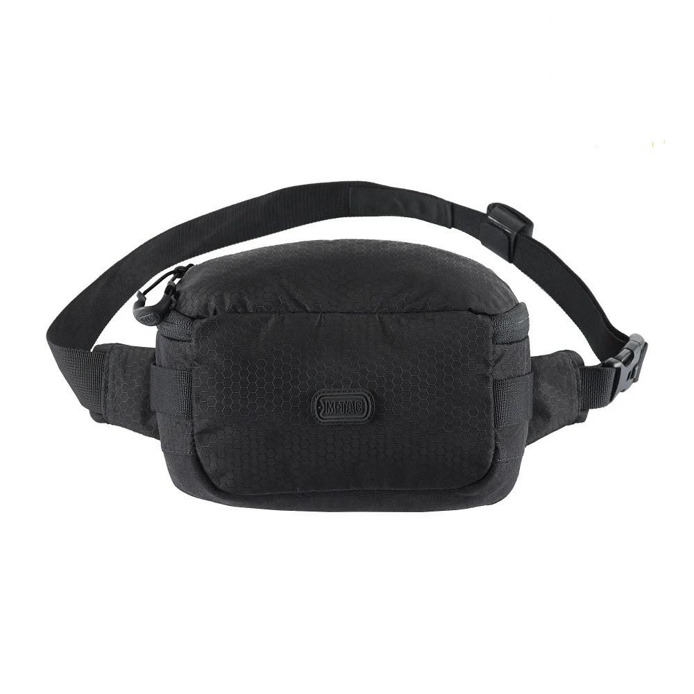 M-Tac сумка поясная черная Tactical Waist Bag Elite Hex Black