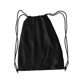 Рюкзак для змінного взуття під друк колір ЧОРНИЙ