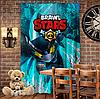 Штори 3D з принтом- Бравл Старс Ворон Меха Brawl Stars
