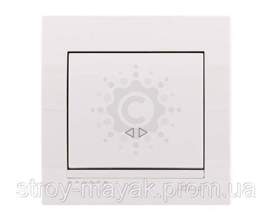 Вимикач одноклавішний проміжний Lezard серія DERIY білий