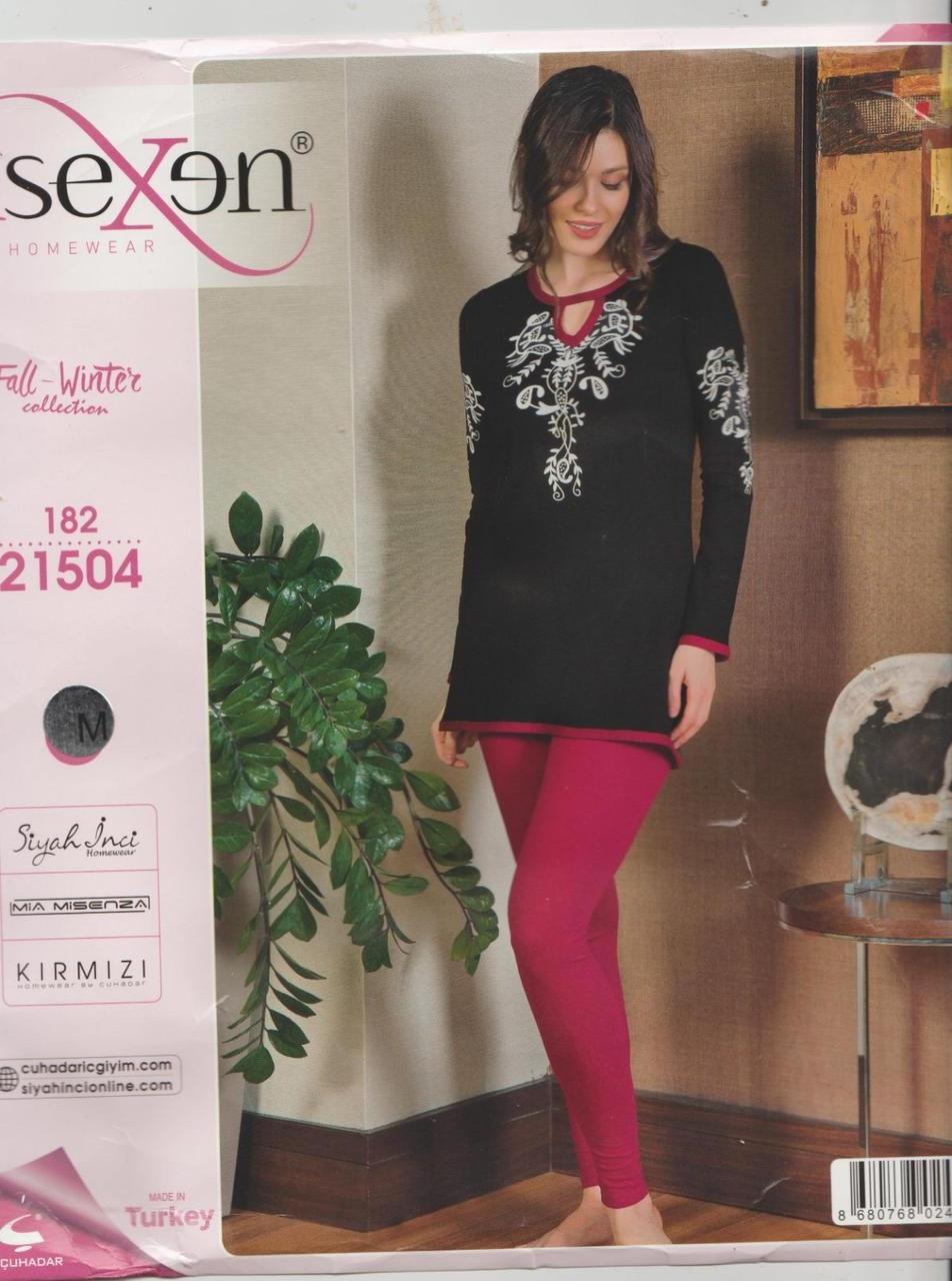 """Жіноча піжама-двійка(туніка та брючки) """"SEXEN""""Туреччина Art:-21504"""