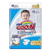 Підгузники GOO.N для дітей 6-11 кг (розмір M, на липучках, унісекс, 64 шт)