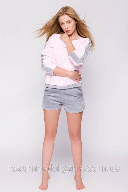 Піжама жіноча шорти+джемпер Light pink, L/XL, TM SENSIS